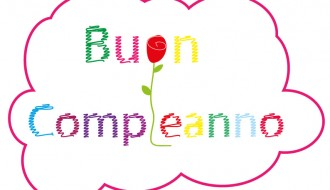 buon compleanno scarabocchio e rosa – scribbling happy birthday and rose