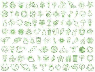 varie icone verdi – different green icons