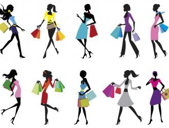 10 sagome ragazze buste – shopping girls silhouettes