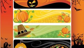 6 banner Halloween