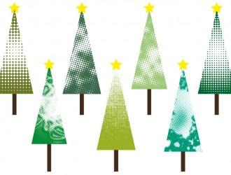 7 alberi Natale puntini – point Christmas trees