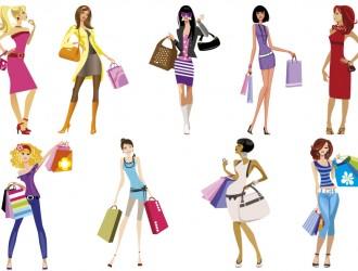 9 sagome ragazze – shopping girls silhouette