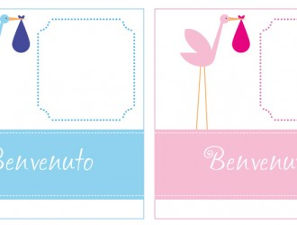 benvenuto neonati cicogna – newborns welcome with stork