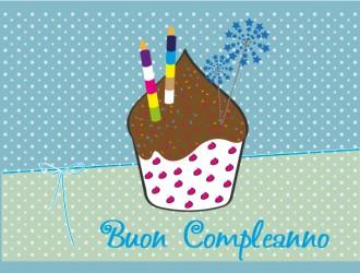 buon compleanno muffin – happy birthday
