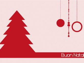 biglietto rosso Buon Natale – red Happy Christms card