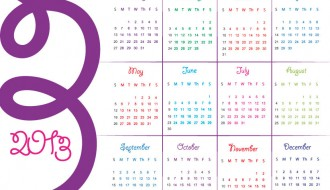 calendario colorato inglese – english calendar 2013