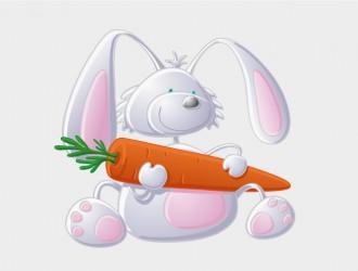 coniglio con carota – rabbit with carrot
