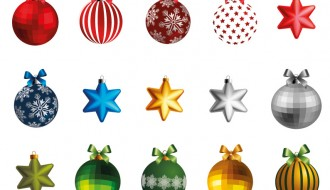 10 palline 5 stelle Natale – Christmas balls and stars