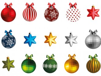 10 palline 5 stelle Natale – Christmas balls and stars
