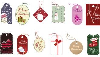 12 targhette Natale – Christmas labels