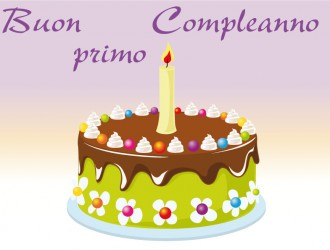 buon primo compleanno – happy first birthday