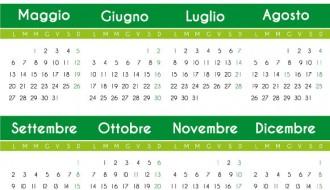 calendario verde – green calendar 2013