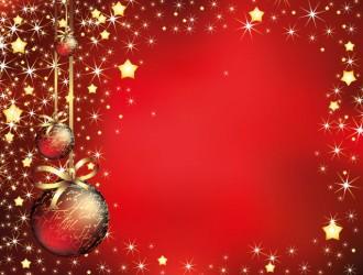 sfondo Natale rosso palline – red Christmas background
