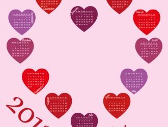 calendario cuori – love calendar 2013