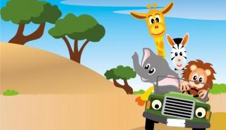 leone giraffa elefante zebra – lion giraffe elephant