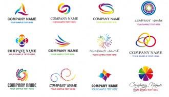 12 loghi – abstract rainbow logos