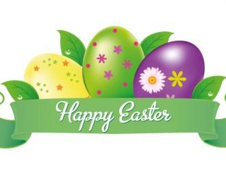 banner buona Pasqua fiori uova – happy Easter flowers eggs banner