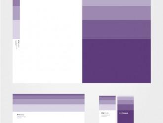 identità aziendale viola – purple corporate identity