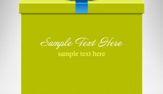 scatola regalo coccarda – gift boxes blue ribbon