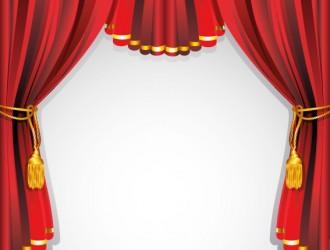 sipario rosso oro – red gold curtain