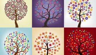 6 alberi – Beautiful Vector Trees
