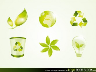 6 loghi ambiente – Green Eco Logo Elements
