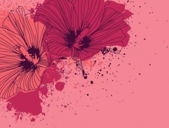 fiori schizzati – splashed flowers