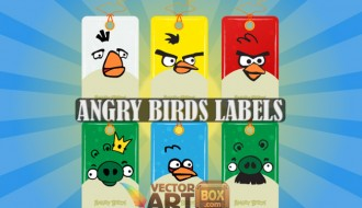 angry birds targhette – labels