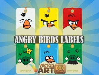 angry birds targhette – labels