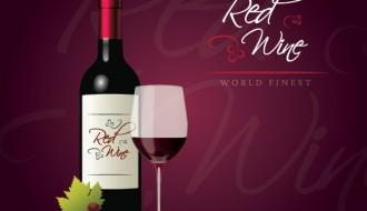 bottiglia vino rosso, uva, bicchiere – redwine bottle
