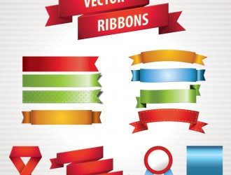 stickers – vector ribbons