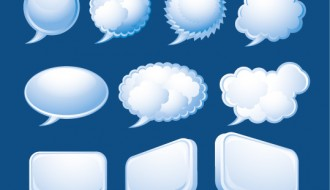 10 nuvolette fumetti – speech bubbles
