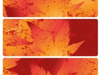 3 banner foglie autunno – autumn leaves banner
