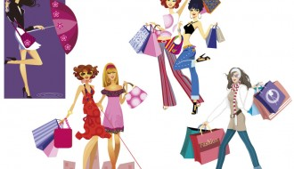 6 sagome ragazze – shopping girls