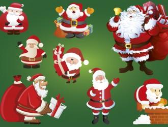 8 sagome Babbo Natale – Santa Claus silhouettes