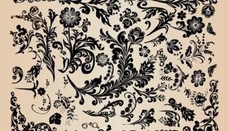 Decorazioni floreali – Floral Vintage Design Elements