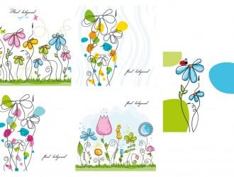 fiori colarati – 5 floral background