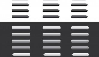 pulsanti bianco-nero – button_set