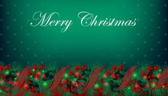 sfondo vischio Natale – mistletoe Christmas Background