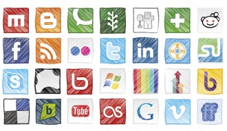 28 grunge social icons