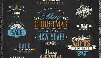 Christmas sale labels – targhette saldi Natale