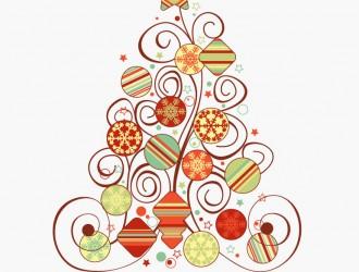 albero di Natale – Swirl Floral Christmas Tree