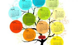 calendar 2014 tree – calendario albero