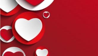 love background red white heart – sfondo cuori