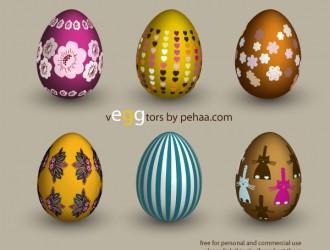 6 uova di Pasqua – 6 decorated Easter eggs