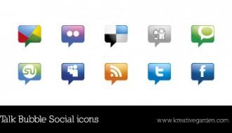 icone social – talk bubble social icons