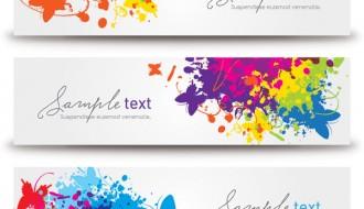 3 banner primavera farfalle – splashed banners