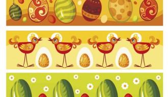 5 banner Pasqua – Easter banner cartoon