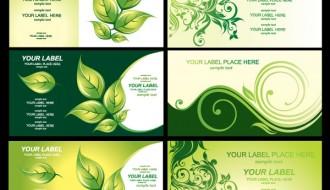 6 biglietti visita eco – green eco business-card