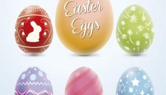 6 uova Pasqua colorate – colorful Easter eggs